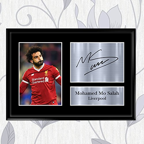 reputable site f0d27 eb87b INSPIRED WALLS Mohamed Mo Salah Gifts Signed Printed Autograph Liverpool  Gift Print Photo Picture Display A2 A3 A4 A5
