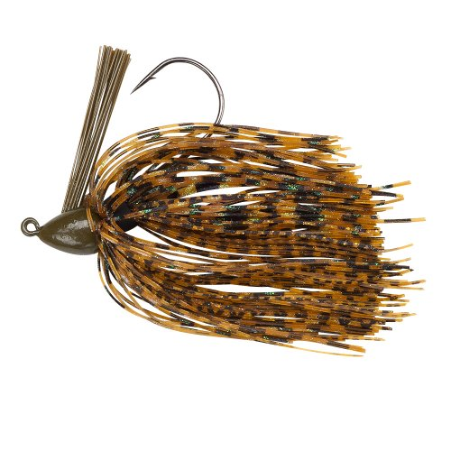 Fishing Jig Skirts (BOOYAH Baby BOO Jig - 3D Green Pumpkin - 5/16 oz)