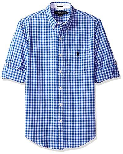 U.S. Polo Assn. Mens Long Sleeve Slim Fit Plaid Shirt