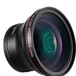 Neewer 55mm 0.43x Professional HD Wide Angle Lens with Macro Portion for D3400, D5600, Sony A33, A55, A57, A58, A65,A68, A77, A77II, A99, A99II, A390, A58,A100, A900, A850, A700, A500 DSLR Cameras
