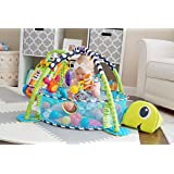 Paradise Treasures 3 in 1 Baby Play Mat with Balls-Plush Turtle Activity Gym and Ball Pit