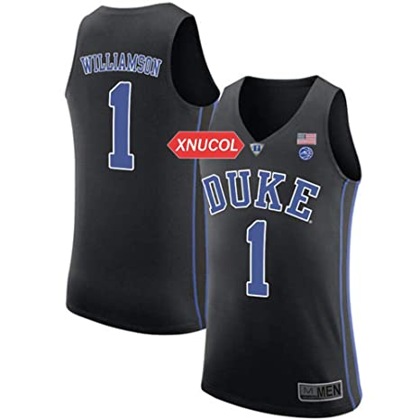 Xnucool Duke Blue Devils  1 Zion Williamson Mens College Basketball  Stitched Jersey (Black 1daebdf60