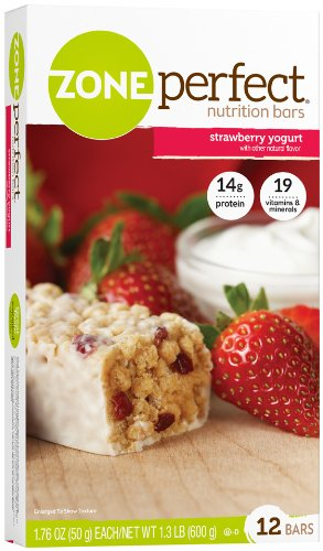 Pretzels Strawberry (Zone Perfect All Natural Nutrition Bar, Strawberry Yogurt, 1.76-Ounce Bars in 12-Count Boxes (Pack of 2))