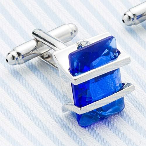 Da.Wa Elegant Blue Crystal Square Cuff Links Men's Business Wedding Shirt Cufflinks Accessories by Da.Wa (Image #5)