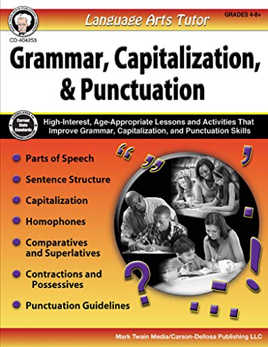Carson-Dellosa Language Arts Tutor: Grammar, Capitalization, and Punctuation Resource Book, Grades 4-8