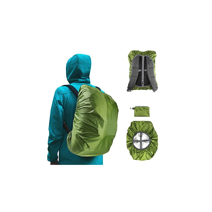 Frelaxy Waterproof Backpack Rain Cover (15 90L), Upgraded Vertical Buckle Strap & Silver Coated, Rainproof Storage Pouch Included, Perfect for Hiking, Camping, Traveling, Cycling, Outdoor Activities