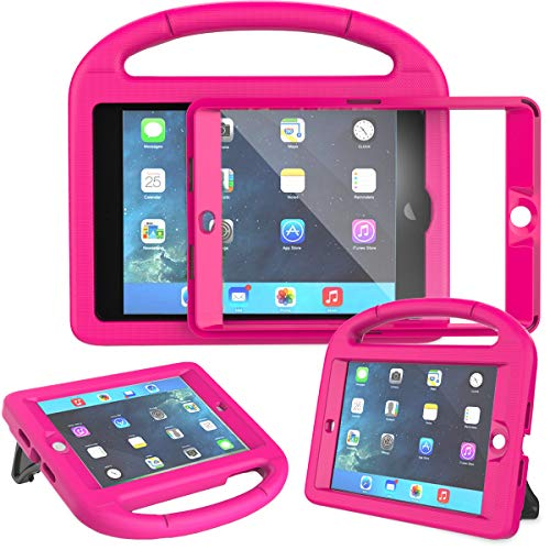 AVAWO Kids Case for iPad Mini 1 2 3 - Built-in Screen Protector Light Weight Shock Proof Handle Stand Kids Cover for iPad Mini 1st Gen, iPad Mini 2nd Gen, iPad Mini 3rd Generation - Rose (Ipad 2 Mini Case Kid Proof)
