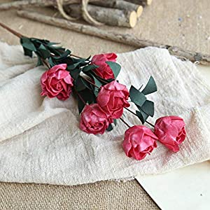 MARJON FlowersArtificial Roses Peony Fake Flowers Bridal Wedding Bouquet for Home Garden Party Wedding Decoration 107
