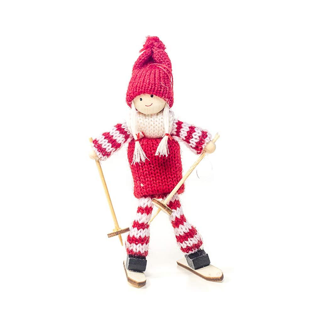 Christmas Cute Snowman Pendant Xmas Home Ski Doll Tree Decoration