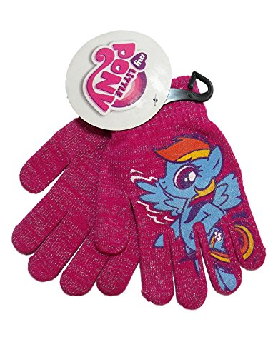 My Little Pony Rainbow Dash Pink Silver Sparkle Girls Knit Winter - Berkshire Outlet