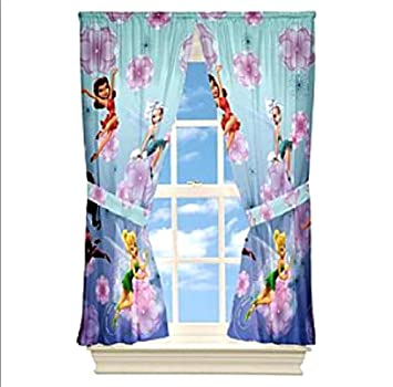 Tinkerbell Disney Fairies Gardine 208 x 160cm Kinderzimmer Vorhang ...
