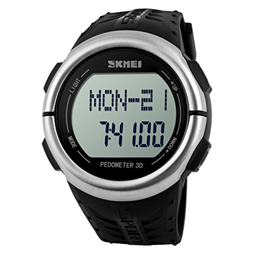 art Rate Monitor Pulse Pedometer Calories Counter Fitness Sport Watch (Black) ()
