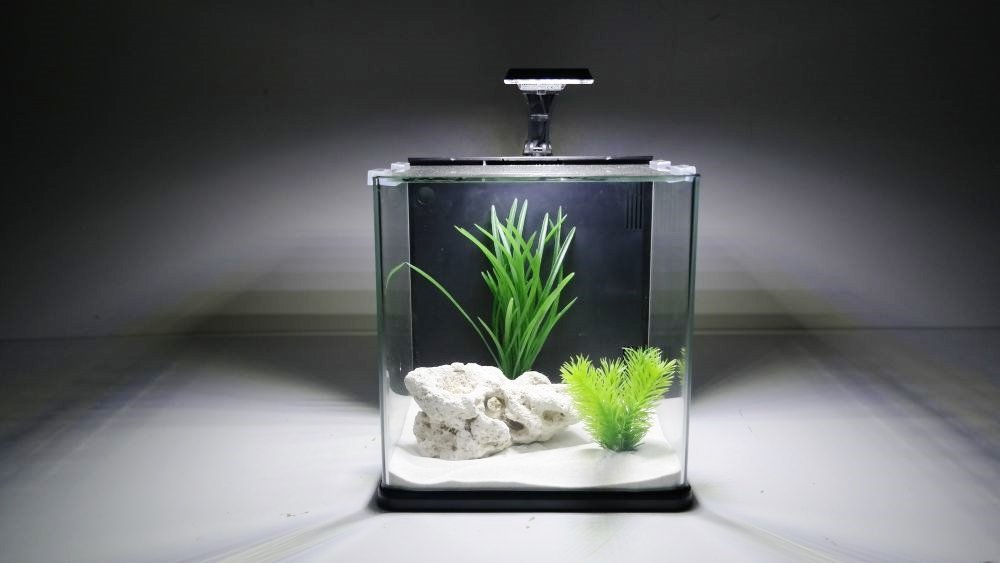 Aqua Orion 25 Complete Nano Aquarium with LED Moon Light, Black, Without Heating Element