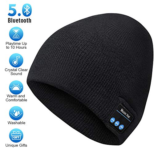 Blueroorh Beanie,Wireless Bluetooth Hat with Bluetooth Headphones,Fashion Bluetooth Beanie Hats,Hand Free Soft Material Music Hat Great Ideal for Gift