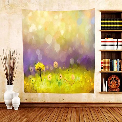 Gzhihine Custom tapestry Watercolor Flower Home Decor Tapestry Gerbera Bouquet Textured Artisan Inflorescence Morph New Paint for Bedroom Living Room Dorm Red - Phila Outlets