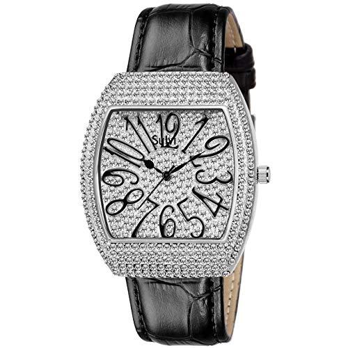 Sylvi DD Diamond Collection Silver Analog Watch   Men