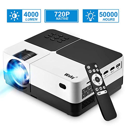 Projector, 1080P and 176'' Display Outdoor Video Projector Supported, 4000Lumen Portable HD Movie Projector ...