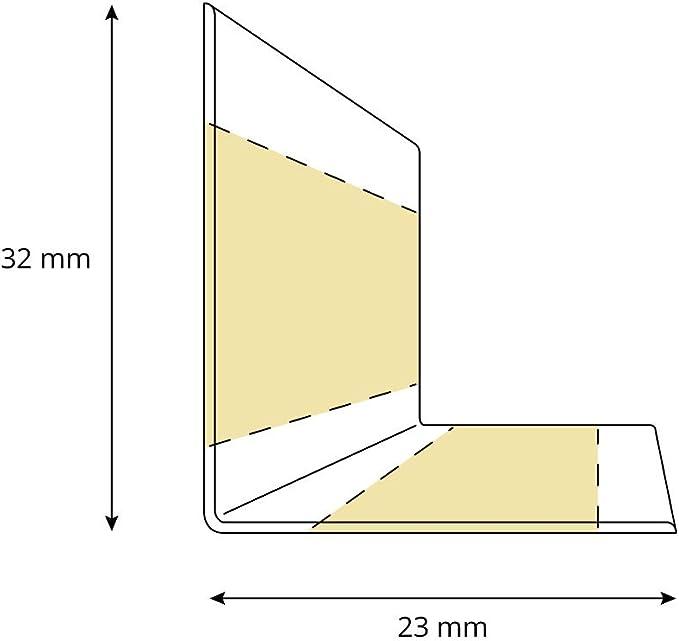 25 m HOLZBRINK Plinthe Souple Autoadh/ésive Noir Plinthe pliable 32x23 mm