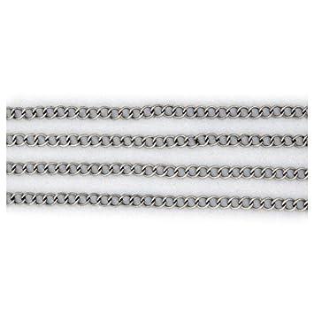 10m Länge Versilbert Glieder Kette Schmuckkette 3x2mm