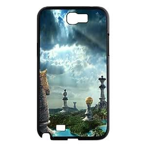 Nuktoe Chess Samsung Galaxy Note 2 Cases Fantasy Chess Art for Girls Protective, Samsung Galaxy Note 2 Case Girl, {Black}