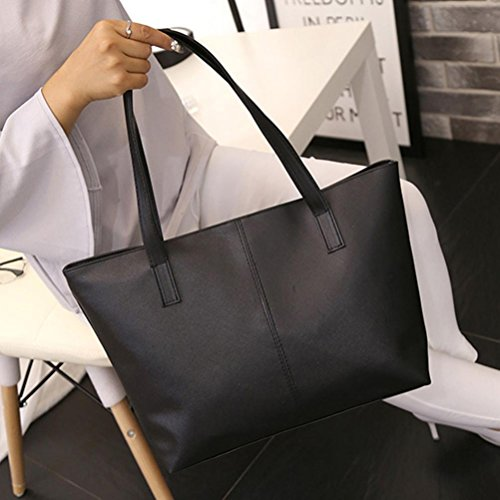 Dark Blue Women Celebrity Tote Leather Simple Anyada Bag Shoulder Ladies Purse Black Large Handbag PqcHWWd7nY