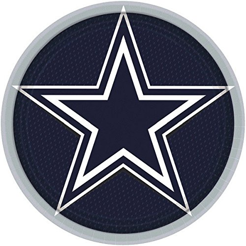 ''Dallas Cowboys Collection'' 9'' Round, Party Plates, 48 Ct.