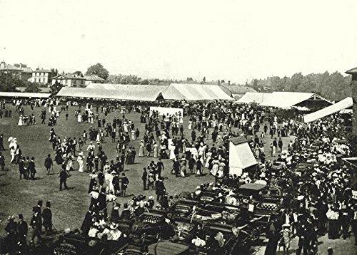 LONDON. Lord's Cricket Ground- Luncheon Interval Eton Harrow Match - 1896 - old print - antique print - vintage print - London art prints