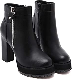 9.5cm Chunkly Heel Martin Boots Robe Bootie Femmes Chaude Chaussures Chaussures Chaussures Chaussures 2017 Automne Hiver Nouvelle Eu Taille 34-40
