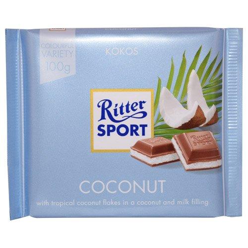 Ritter Sport Kokos / coconut (3 Bars each 100g) - fresh from Germany