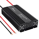 Power Converter 3000W Modified Wave Inverter 12 Volt DC to 110 Volt AC Converter with Long Cables