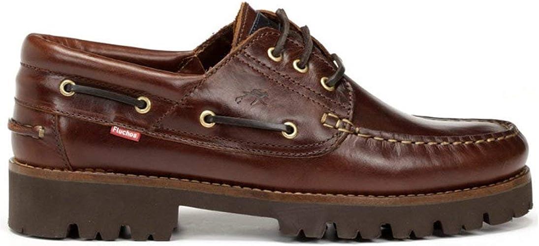 La Valenciana Zapatos para Hombre Fabricados en España de Piel Fluchos F0046 Castaño: Amazon.es: Zapatos y complementos