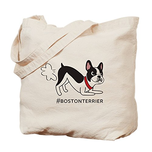 CafePress - Boston Terrier Fart Problems - Natural Canvas Tote Bag, Cloth Shopping ()