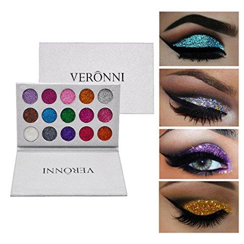 SMTSMT 15 Colors Shimmer Glitter Eye Shadow Powder Makeup Pa