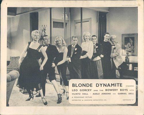 Blonde Dynamite Leo Gorcey Huntz Hall & girls conga line lobby card rare
