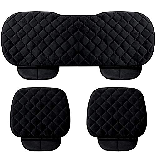 WINGOFFLY 3 Pack Thicken Front and Rear Car Seat Cushion Nonslip Car Interior Seat Cover Pad Mat Fit for Auto Vehicle