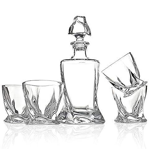 ELIDOMC Whiskey Glasses, Set of 4 10 OZ Whiskey Glasses Set for Drinking Bourbon, Scotch, Cocktail, Irish Whisky, 100…