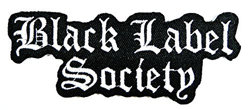 BLS Black Label Society Rock Music Band Patch Embroidered Iron on Hat Jacket Hoodie Backpack Ideal for Gift/ 12.2cm(w) X 4.7cm(h)