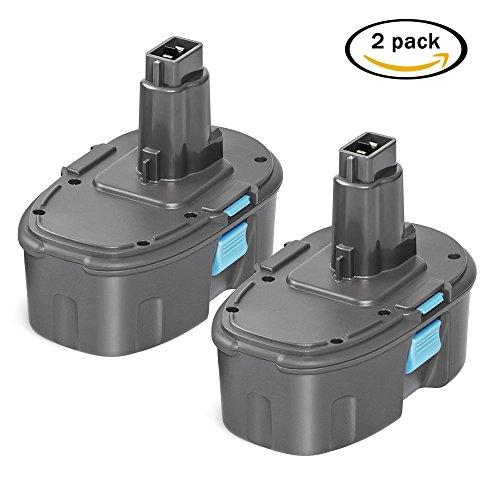 easyDecor 2 Pack 18V 3.0Ah NI-MH Replacement Battery for Dewalt Cordless Tools DC9096 DW9096 DW 9095 DW9098 DE9039 DE9095 DE9096 DE9098 DE9503