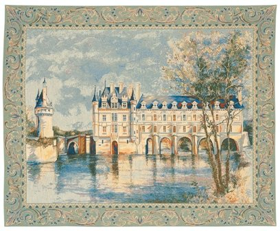 Chenonceau Castle European Tapestry by Charlotte Home Furnishings Inc.