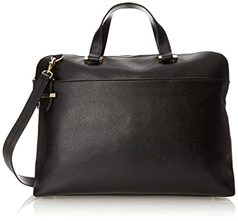 Lodis Stephanie Under Lock and Key Jamie Brief Satchel Top Handle Bag, Black, One Size - Attache Brief