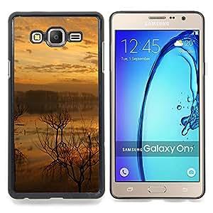 - Sunset Lake - - Cubierta del caso de impacto con el patr??n Art Designs FOR Samsung Galaxy On7 G6000 Queen Pattern