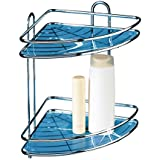 Tatkraft Kaiser Double Shower Corner Rack Bathroom Caddy Organizer Antirust Chrome Plated Steel