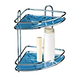 Tatkraft Kaiser Double Shower Corner Rack Bathroom Caddy Organizer Antirust Chrome Plated Steel