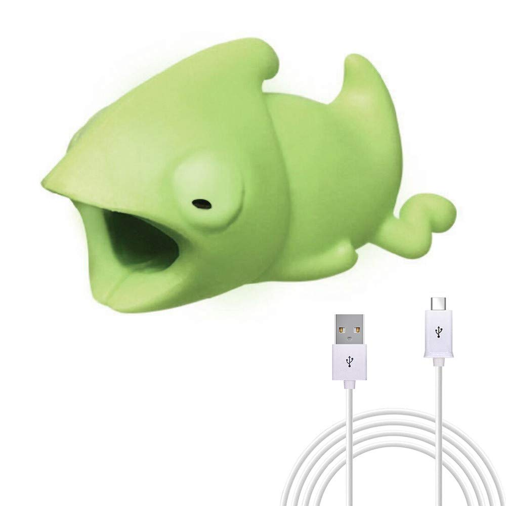 Kanzd Cable Bite for Mirco USB Cable Cord/Type C Cable Cord Animal Phone Accessory Protects (B, Type C Cable Cord)
