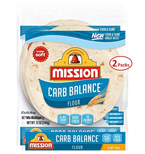 Mission Foods Carb Balance Flour Tortillas (8 ct., 12 oz.) (pack of 2)