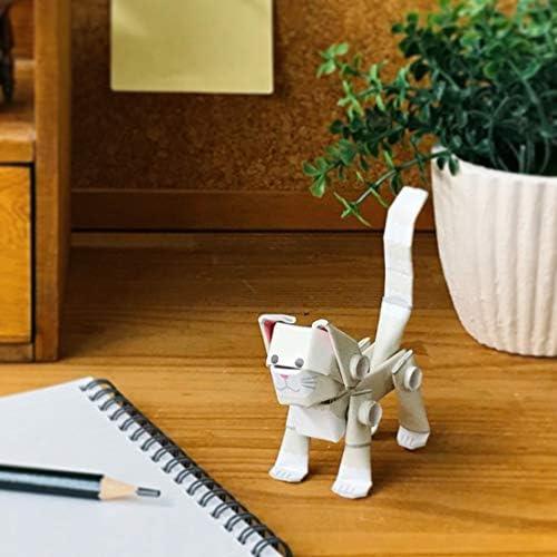 パイプロイド(PIPEROID) アニマルズ 猫 シリーズ 白猫 - 小学生 から 大人まで 楽しめる 紙工作 クラフトキット - 折り紙 好きの 男の子や 女の子にも