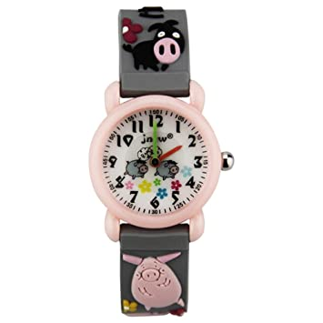 XueXw Niño Reloj De Dibujos Animados Digital De Silicona Impermeable 3D Reloj Lindo Deporte Niño Niña,Grey: Amazon.es: Hogar
