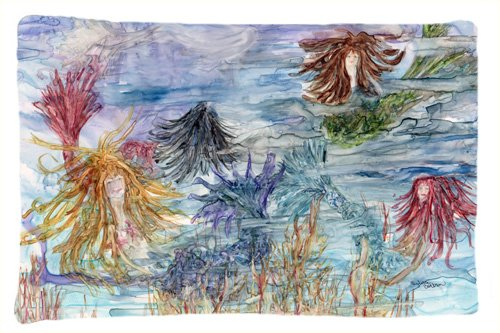 Caroline's Treasures Abstract Mermaid Water Fantasy Fabric Standard Pillowcase 8975PILLOWCASE Multicolor