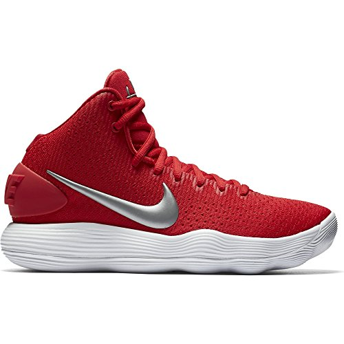 Nike Womens Hyperdunk 2017 TB Basketball Shoe University Red/Metallic Silver/White Size 9 US