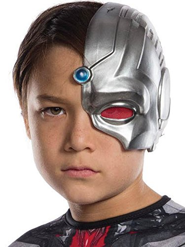 Rubie's Costume Boys Justice League Cyborg Half-Mask Costume, One Size -